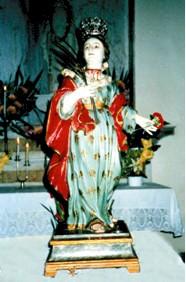 Effigie di Santa Barbara Vergine e Martire Cagliaritana, in legno intagliato e policromato