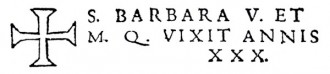 L'iscrizione di Santa Barbara Vergine e Martire Cagliaritana nel Santuario de Caller del cappuccino p. Seraffin Esquirro