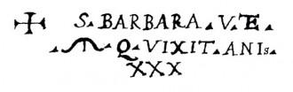 L'iscrizione di Santa Barbara Vergine e Martire Cagliaritana negli Actas Originales