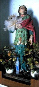 Simulacro in legno intagliato e policromato di Santa Barbara Vergine e Martire Cagliaritana