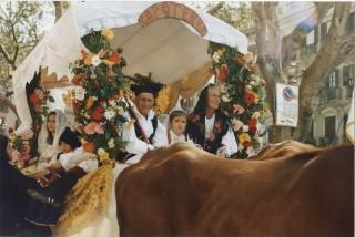 La tracca di Capoterra allestita da Mario Farigu nel 2004
