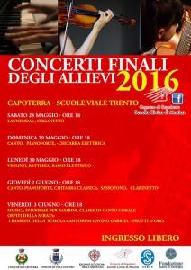 Scuola Civica di Musica Concerti Finali anno accademico 2015/2016