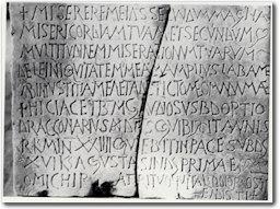 Cagliari Museo Archeologico Nazionale Epitaffio marmoreo di Gaudiosus, vir devotus