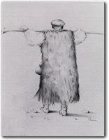 La mastruca Sardorum, in un disegno di Mario Perra