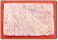Epitaffio dell'eremita frate Francisco de Quentia